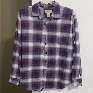 St. John's Bay Petite Large Purple Flannel